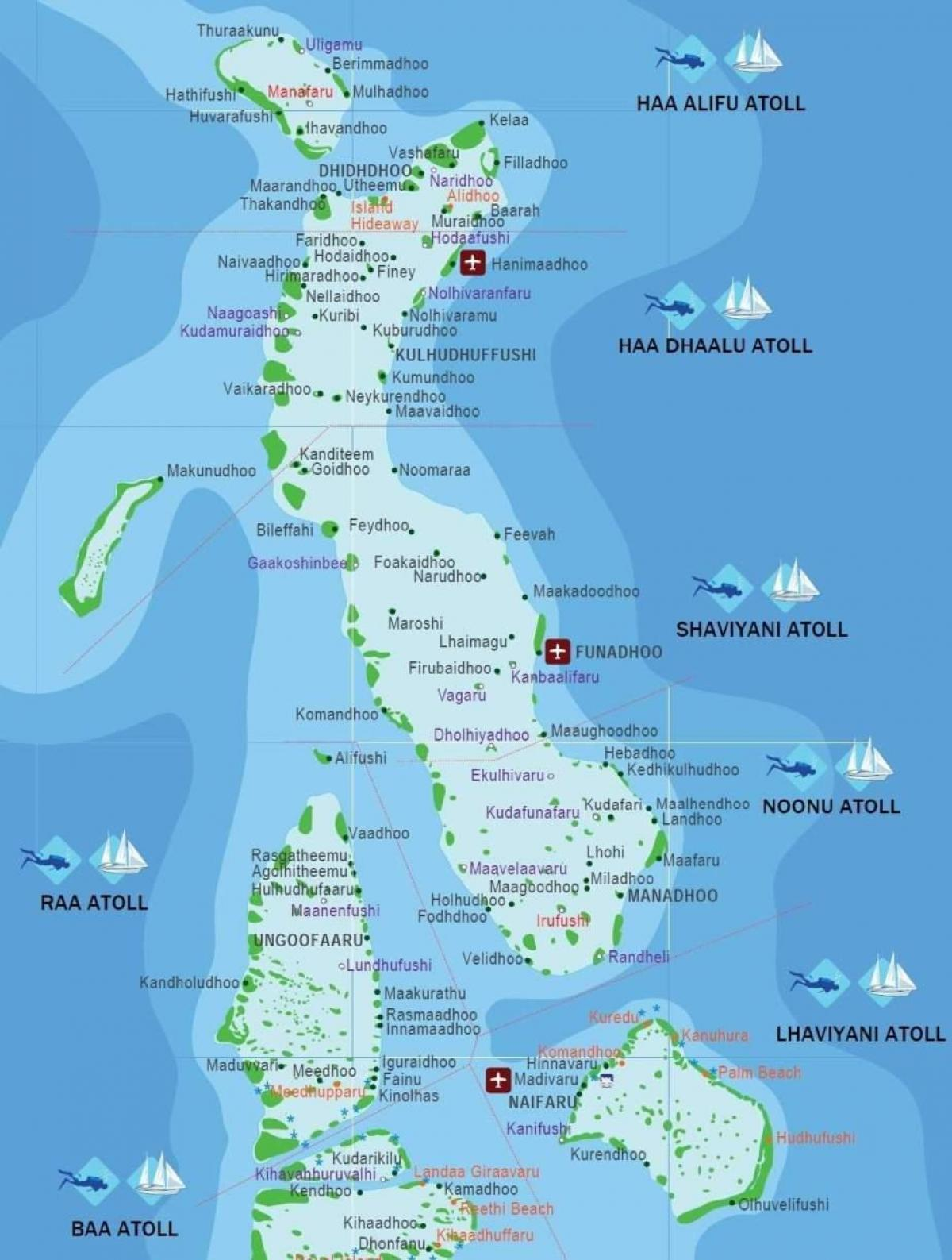Kart Over Maldivene Full Kart Over Maldivene Sor Asia Asia