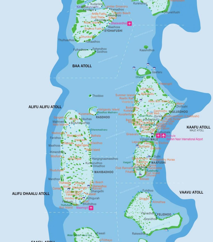 Maldivene Flyplassen Kart Maldivene Flyplasser Kart Sor Asia