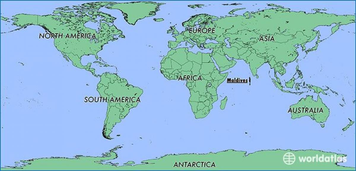 Maldivene Kart Plassering Kart Maldivene Naboland Sor Asia Asia